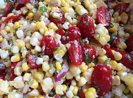 Lime and Manchego Corn Salad