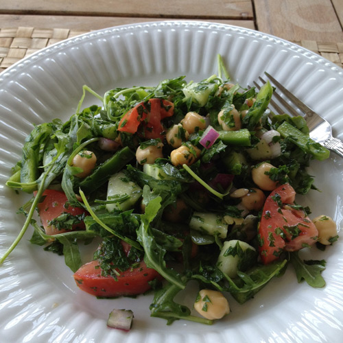 Chickpea and parsley salad with lemon-shallot dressing